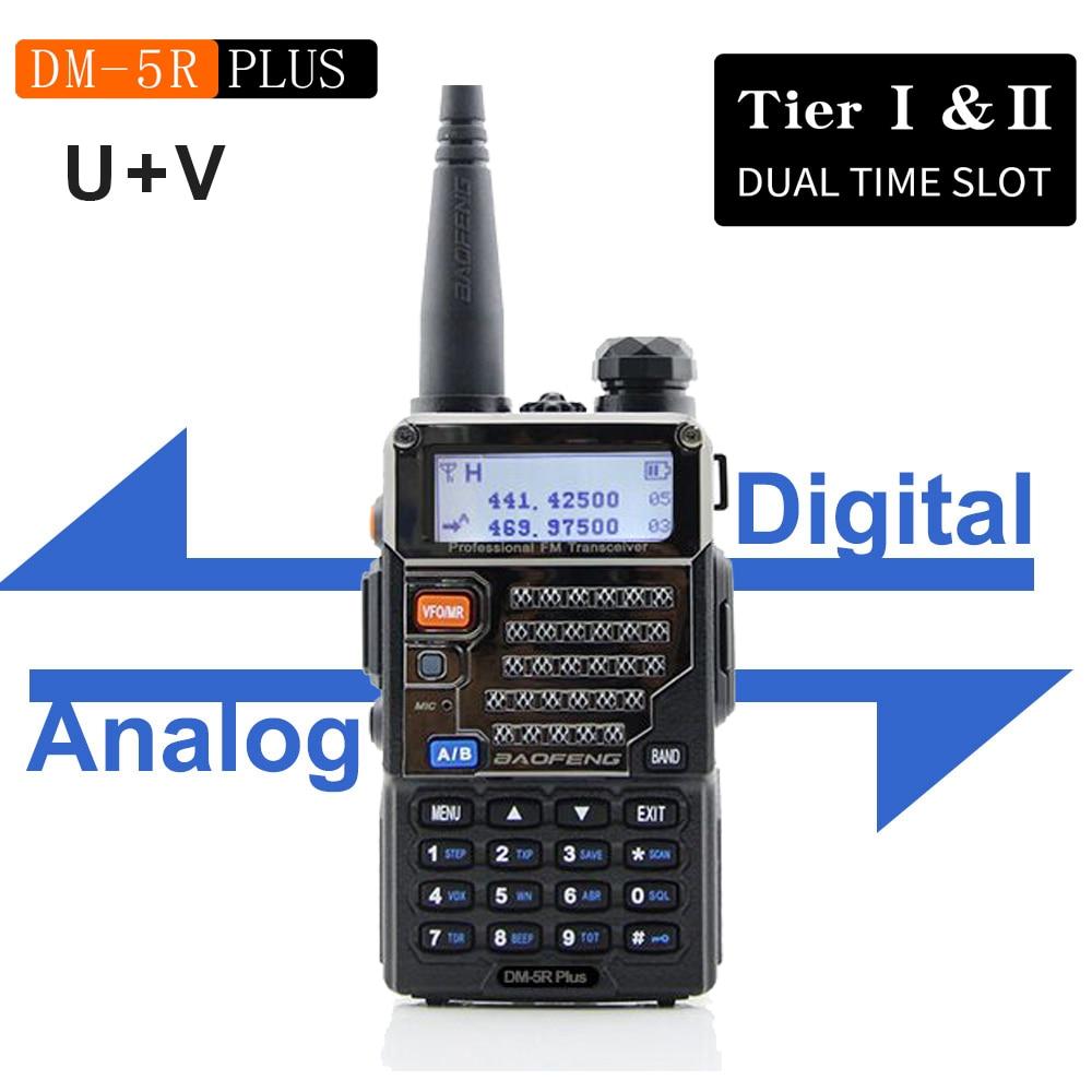 جديد BAOFENG DM-5R زائد DMR الرقمية راديو DM5RPLUS المزدوج الفرقة راديو 144/430mhz FM جهاز الإرسال والاستقبال المزدوج الوقت فتحة UV اسلكية تخاطب