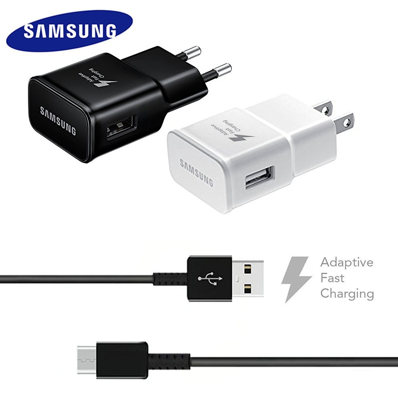 15W Samsung Adaptive Fast Charger Adapter 15W AFC USB 3.0 Type C Data Cable For Galaxy S8 S9 S10 Not