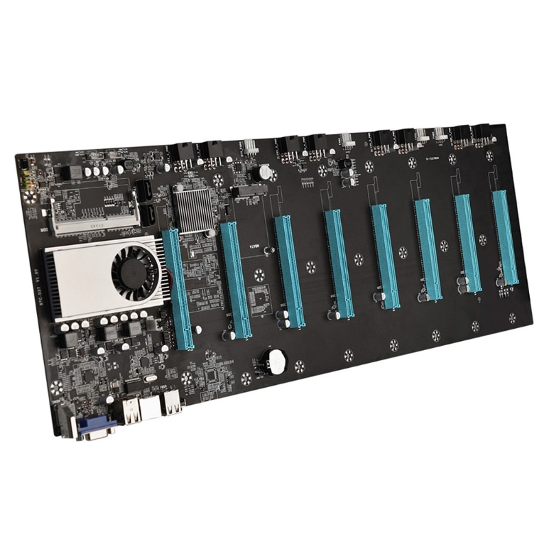 BTC-S37 Mining Machine Motherboard 8 PCIE 16X Graph Card SODIMM DDR3 SATA3.0 enlarge