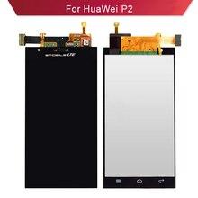 BKparts probado para Huawei Ascend P2, pantalla LCD, pantalla táctil de cristal, digitalizador para Huawei P2 P 2, montaje completo de pantalla LCD