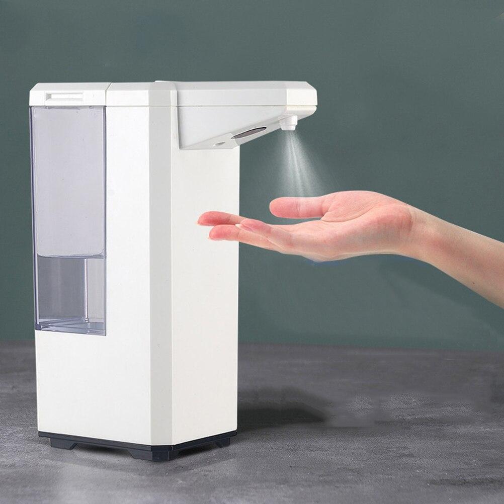 Dispensador automático de jabón de desinfección de 500ml, herramienta de lavado de manos de gran capacidad, máquina de desinfección de Alcohol, accesorios de baño
