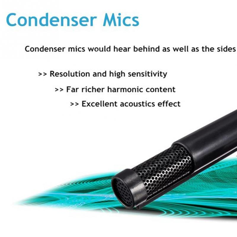 Portable USB Microphone Microfone Mini Clip-on Omni-Directional Stereo USB Mic Microphone For PC Computer enlarge