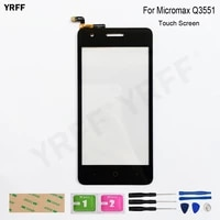 for micromax q3551 touch screen digitizer sensor glass panel replacement assembly parts