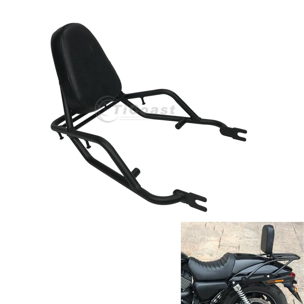 حامل خلفي للأمتعة يمكن فصله عن قطعة واحدة للدراجة النارية مزود بمسند للظهر للمقعد أو للراكب شريط سيسي متوافق مع Kawasaki W400 W650 W800