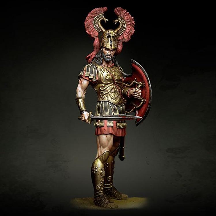 1/20 Argyraspides, 4th century BC, figura GK del modelo de resina, tema de la guerra romana, sin montar y kit sin pintar