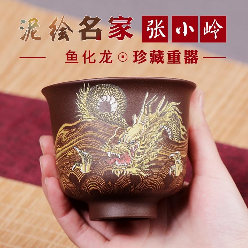 الشهير TaoLing سادة كأس عينة فنجان شاي عدد الهاوي نفس الزجاج البنفسجي arenaceous الطين الكونغ فو طقم شاي كوب واحد