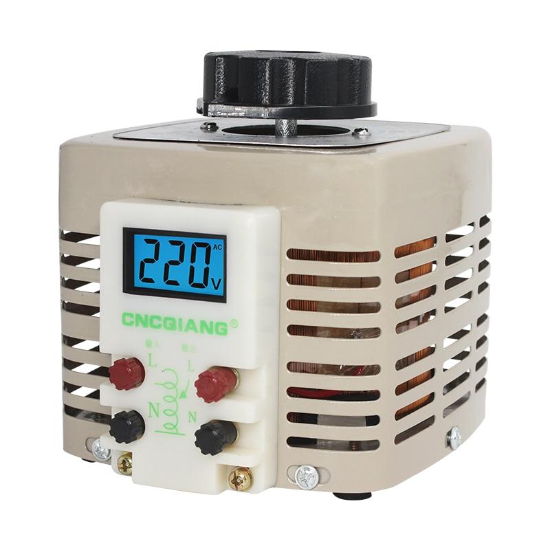 TDGC2-2KVA TDGC2 2KVA regulador de voltaje monofásico Variac convertidor de potencia ajustable transformador de voltaje entrada 220V 2000W Outp