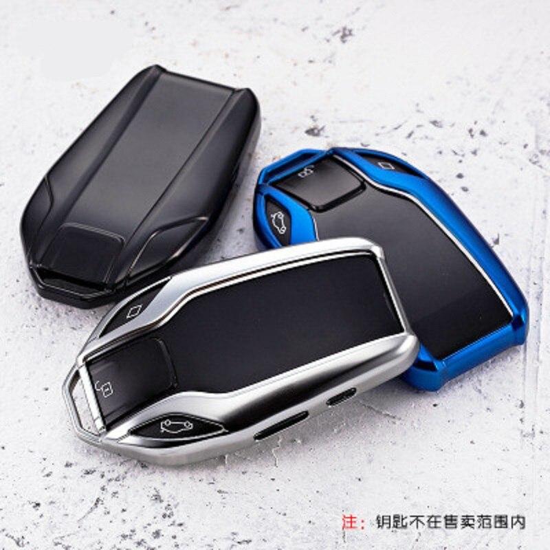 Novo tpu macio carro totalmente chave caso capa escudo remoto chave protetor para bmw série 7 740 6 gt série 5 530i x3 chave de exibição
