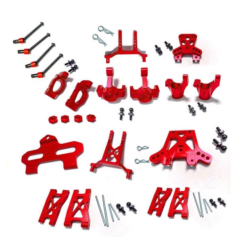 ترقية المعادن طقم قطع غيار العجلات كتلة القيادة كتل ذراع نظام التعليق ل Traxxas LaTrax Teton 1/18 RC سيارة