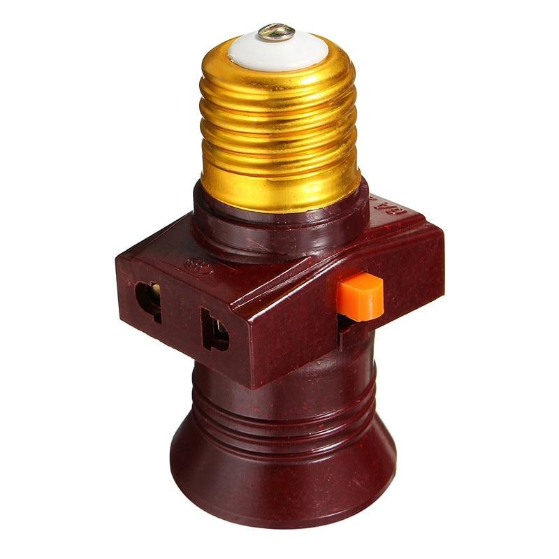 Base de lámpara con tornillo E27, soporte de bombilla, Bases de enchufe...