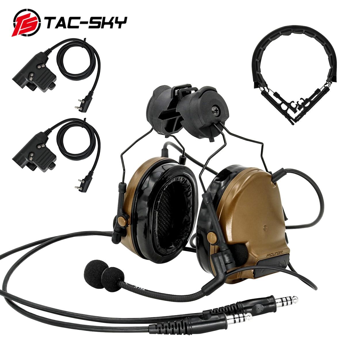 TAC-SKY COMTAC III المزدوج الاتصالات سيليكون غطاء للأذنين التكتيكية سماعة CB/التكتيكية سماعة استبدال عقال/PTT U94PTT