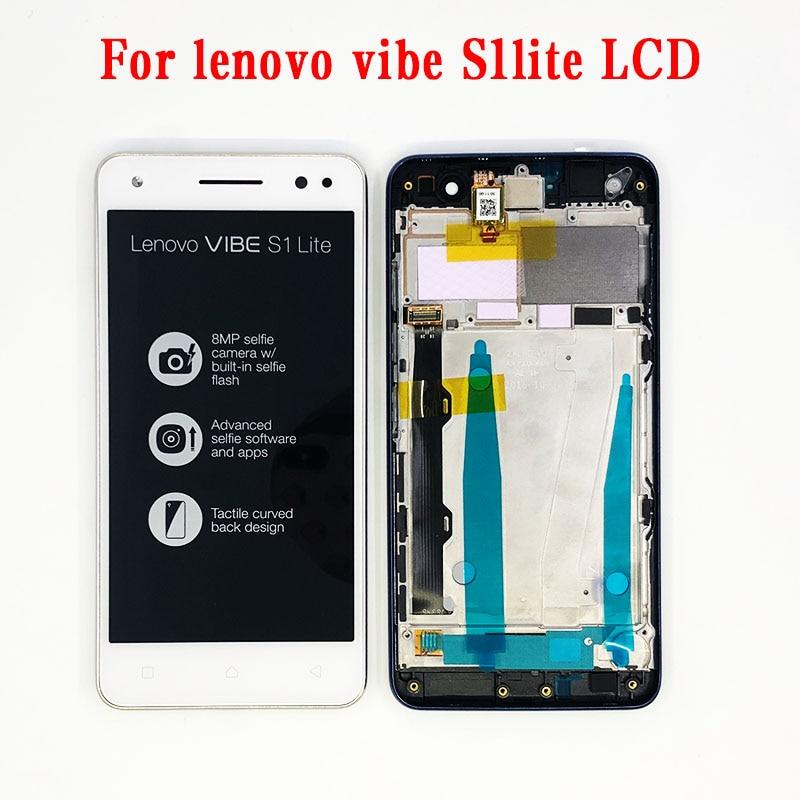 Original 5,0 1920x1080 pantalla IPS para Lenovo Vibe S1 LITE pantalla LCD pantalla táctil S1LA40 piezas de repuesto digitalizador