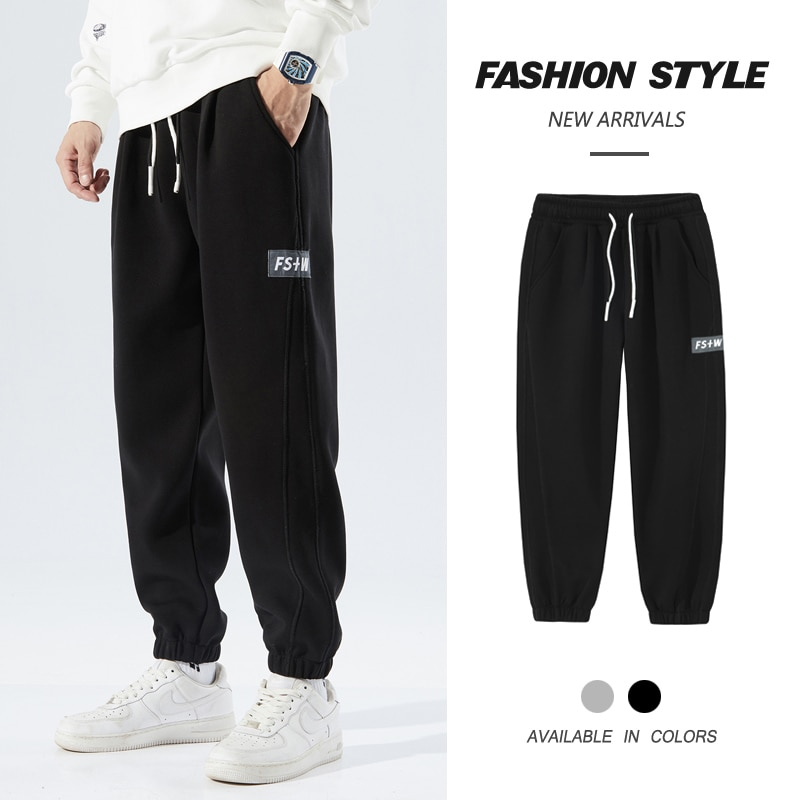 2021 Autumn New Baggy Sweatpants Male Causal Comfortable Trousers Korean Style Plus Size Drawstring