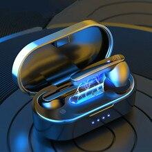 TWS Bluetooth V5.0 casque Mini sans fil écouteur tactile HIFI Sport casque réduction du bruit avec double Microphone pour tous les téléphones