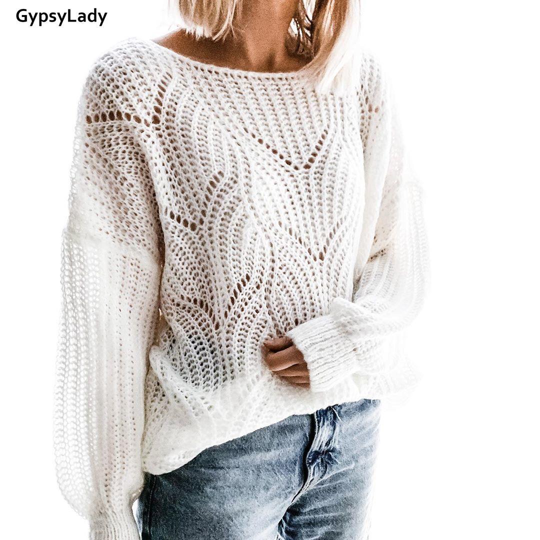 GypsyLady suéter rojo Mohair Casual Chic otoño suéteres manga larga Jersey holgado o-cuello Pullover mujeres Top 2019