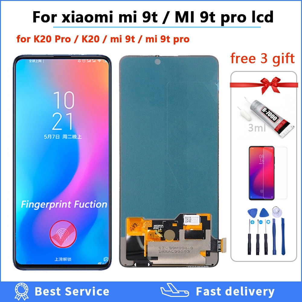 Original lcd For Xiaomi Mi 9T Pro mi9t display for Redmi K20 Pro LCD Display + Touch Screen digitizer Assembly mi 9t lcd 6.39 amoled lcd display for xiaomi mi 9t display with frame