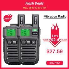 2 pièces chape RB615/RB15 Mini PMR talkie-walkie PMR446 PMR 446 Radio VOX mains libres Radio bidirectionnelle avec Vibration clonage sans fil