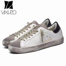 2021 New All-Match Running Unisex Trend Golden Dirty Old Korean Version Stars White Flat ShoesLarge