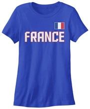 Tee shirt equipe nationale de France femme fierté française