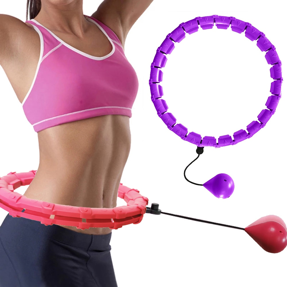 24 Section Adjustable Sport Hoops Abdominal Thin Waist Exercise Detachable Hoola Massage Fitness Hoop Training Weight Loss