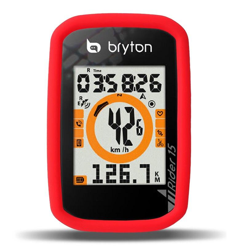 Ciclismo bicicleta R15 computadora cronómetro de proteccción de goma caso cubierta inteligente con pantalla LCD para Bryton jinete 15