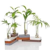 ins simple diy building block test tube vase creative hydroponic pineapple flower arrangement beauty home desktop decoration