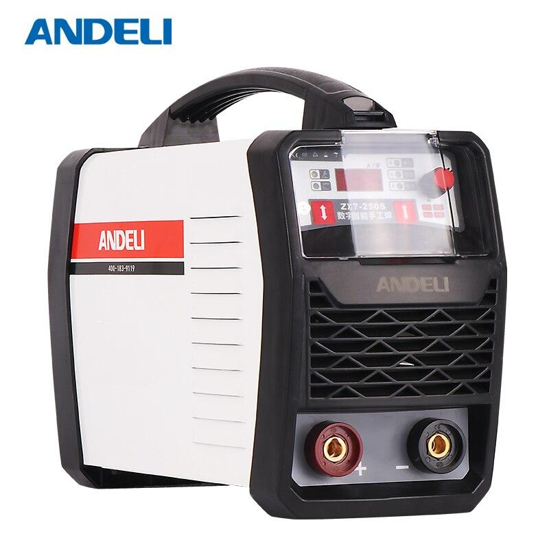 ANDELI Smart Draagbare Eenfase ARC-250S Spot Lassen Booglassen Machine Dubbele Low Voltage Inverter Lasmachine mma arc welder enlarge