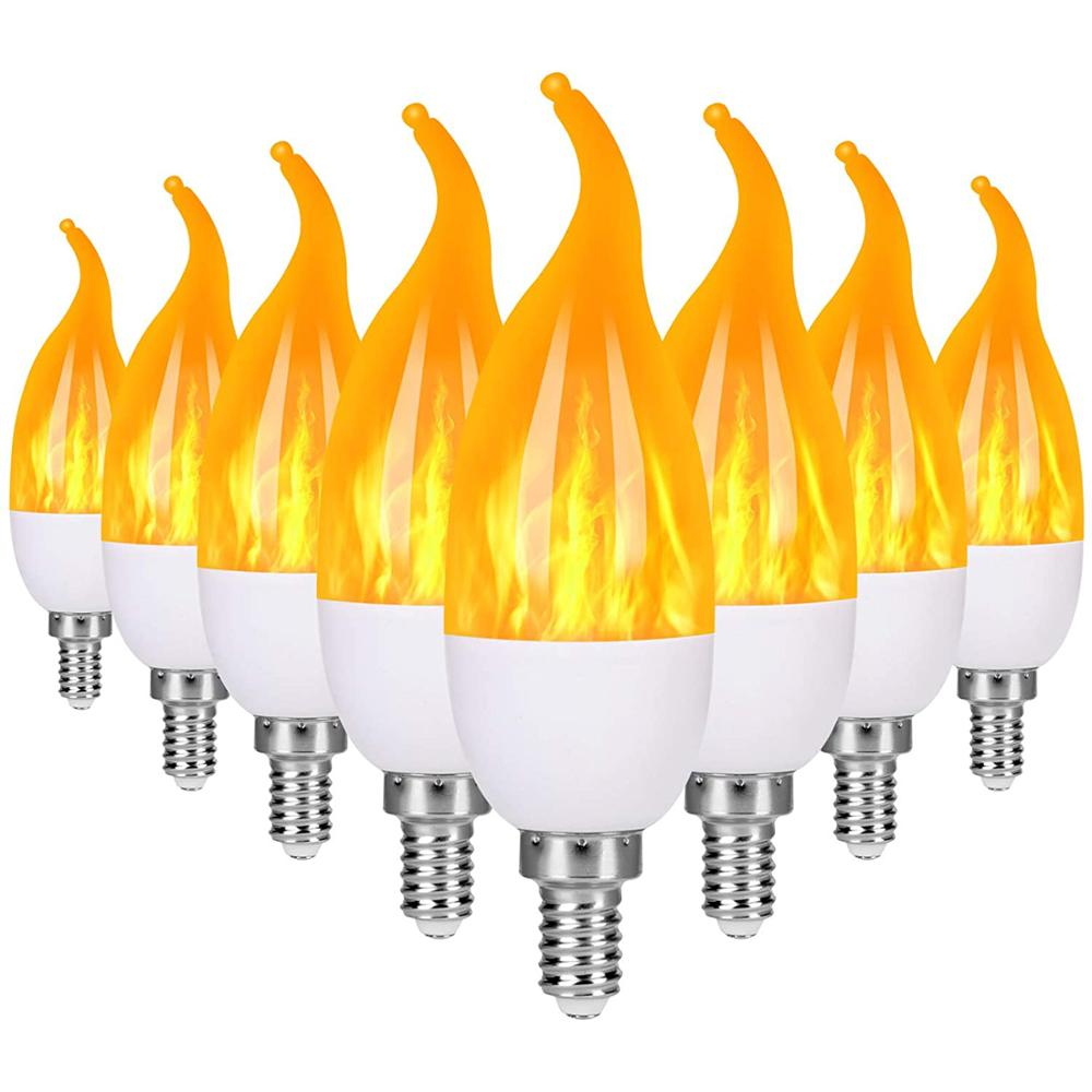 Лампочка пламени светодиодный канделябры лампочки, Е14 Е27 люстры лампочки, рождественские украшения светильник почки свечи, праздничный Де...