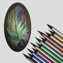 12/18 couleur métallique couleurs crayon Fluorescent néon couleur plomb peinture à la main coloriage stylo étudiant papeterie fournitures de bureau