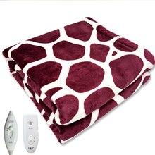 Couverture électrique chauffe-corps hiver simple couverture chauffante Thermostat couverture chauffante électrique tapis lits ménagers chauffages coussinet