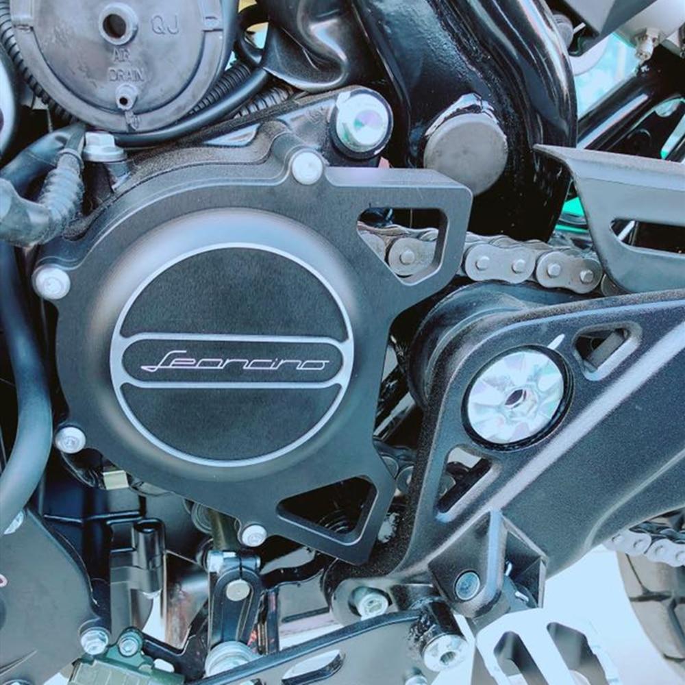 Accesorios de motocicleta CNC cubierta de protección de cadena decorativo anti-fouling protector para BENELLI Leoncino 500 leoncino 500