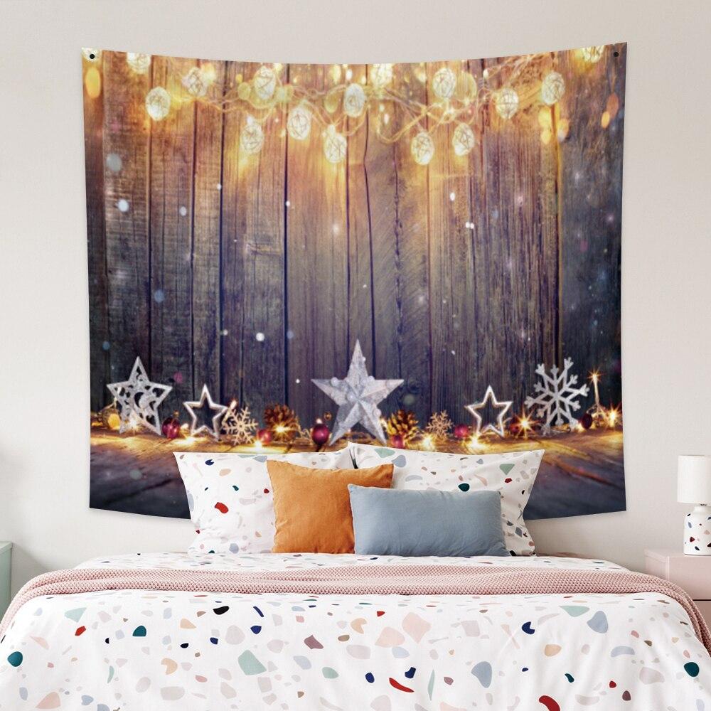 Гобелен Laeacco, Рождественская настенная подвеска, искусственное окно, Декорации для дома, рождественские украшения, гобелены, фоновая ткань, ...