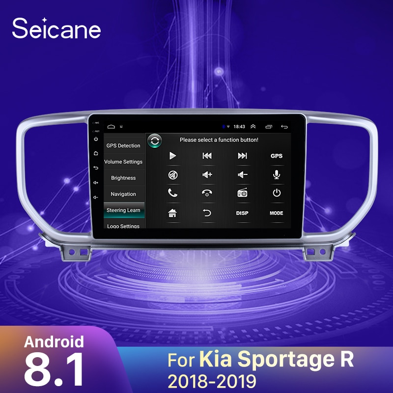 Seicane Android 8,1 2din 2.5D pantalla coche Autoradio GPS para Kia Sportage R 2018-2019 soporte DVR OBD2 espejo enlace Cámara retrovisor