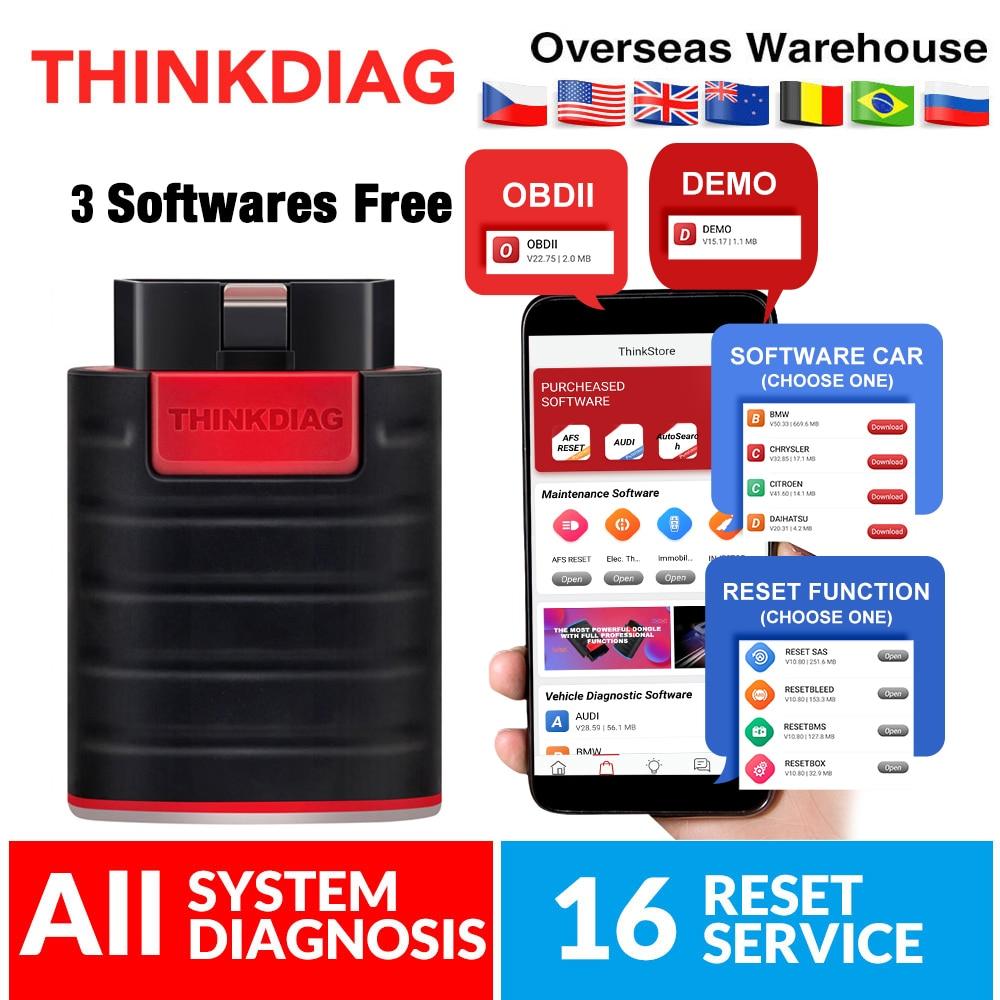 Thinkdiag Bluetooth OBD2 Scanner 3 software free Automotivo OBD 2 TPMS Code Reader Car Diagnostic Tool for DIY PK MK808 Easydiag