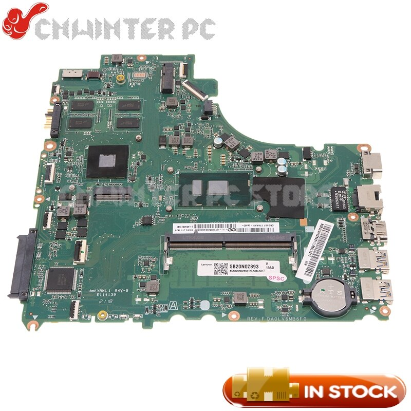 NOKOTION 5B20L59210 DA0LV6MB6F0 لينوفو V310-15ISK V510-15IKB E52-80 اللوحة SR2EY I5-6200U وحدة المعالجة المركزية 4G RAM راديون R5 M430 2G