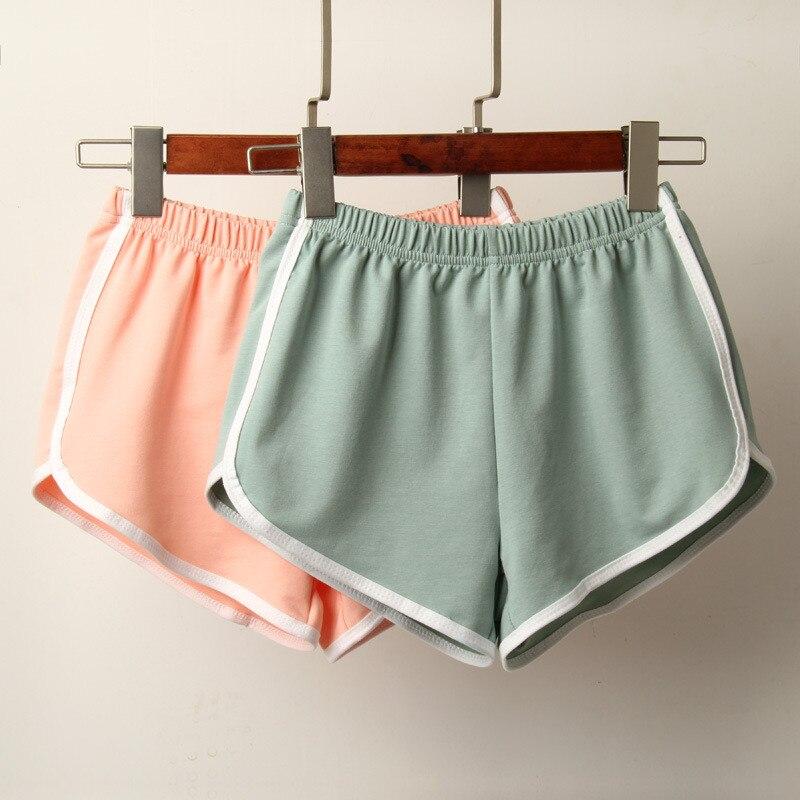 Pantalones cortos informales de algodón con cintura elástica para mujer, pantalones cortos de verano con cintura alta 2020 Harajuku, pantalones cortos para mujer, Spodenki Damskie Harajuku