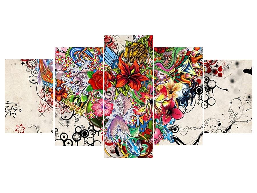 100% 5D completo Diy Daimond pintura punto de cruz flor corazón Multi-Cuadro combinación cuadro redondo con diamante de imitación bordado flor