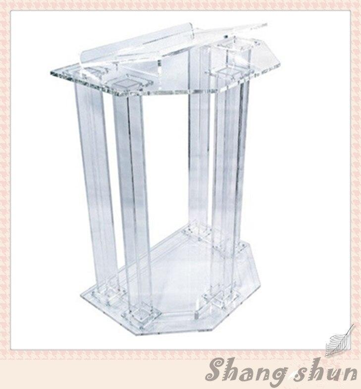 Kirche acryl podium/Acryl milchglas platte mit siebdruck rednerpult kirche rednerpult