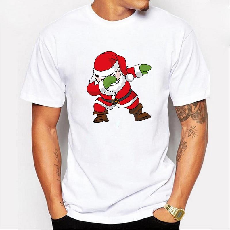 Merry Christmas Mens Fashion Anime Santa Tees Shirt Summer Top Short-sleeved Aesthetic Japanese Anime Shirt Graphic Tees Eboy