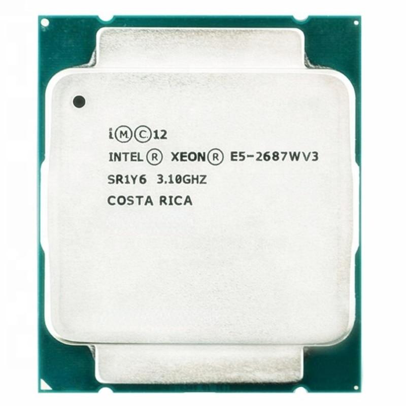 إنتل زيون E5 2687WV3 3.1GHZ 10 النواة 25M مخبأ E5 2687W V3 FCLGA2011-3 160W