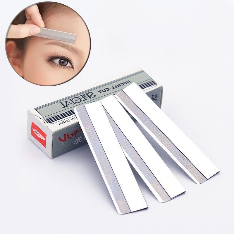 Maquillaje permanente de acero inoxidable Paquete de maquinilla de afeitar Microblading de cejas 1 caja tatuaje blanco suministros para maquillaje de tatuaje de cejas