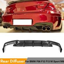 Diffuseur de lèvres pare-choc arrière BMW   Becquet pour BMW série 6 F06 F12 F13 M6 M Sport M Tech 2012 - 2016 Fiber de carbone/FRP