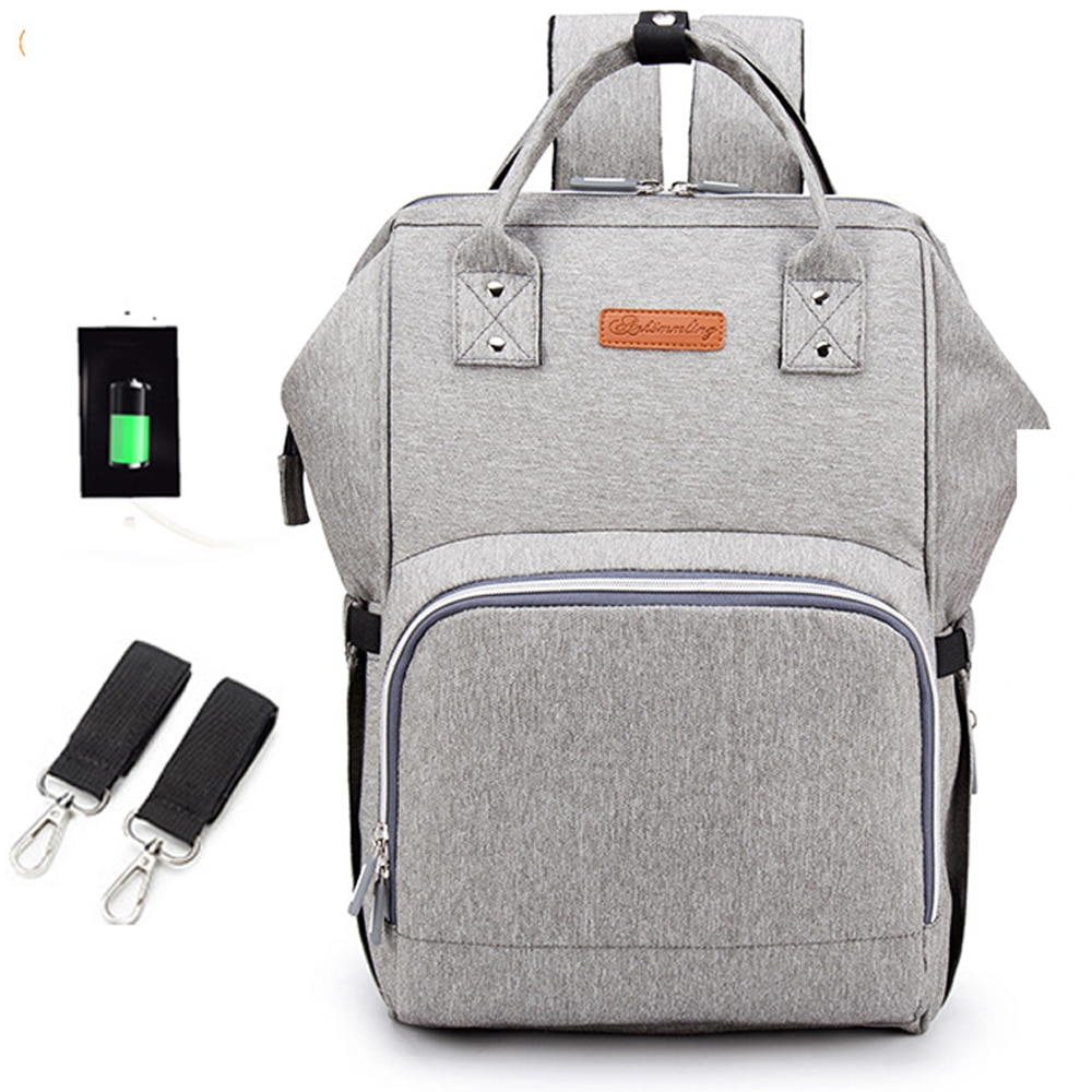 Baby Diaper Bag  USB Interface Large Mummy Bag Backpack Baby Care WaterProof Luiertas Mummy Maternity Baby Nappy Bag недорого