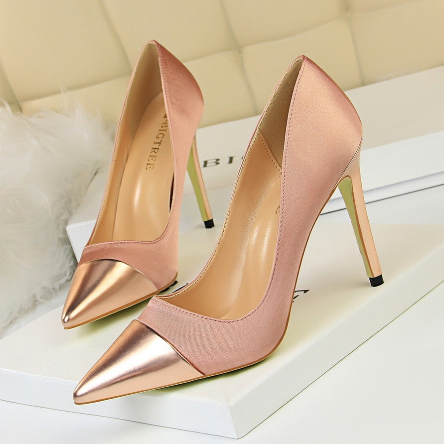 Zapatos De oficina De tacón alto para Mujer, Tacones simples De moda,...