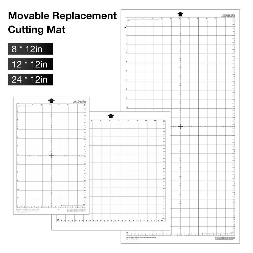 Esteira de corte para substituição, tapete adesivo transparente com grade de medição 8/2001-2019, para silhueta, cameo, plotter, 1 peça máquina máquina
