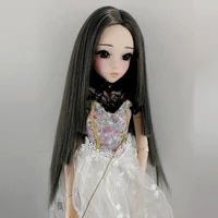 13 14 16 18 bjd sd doll wig male and female dolls high temperature fiber long straight doll hair accessories