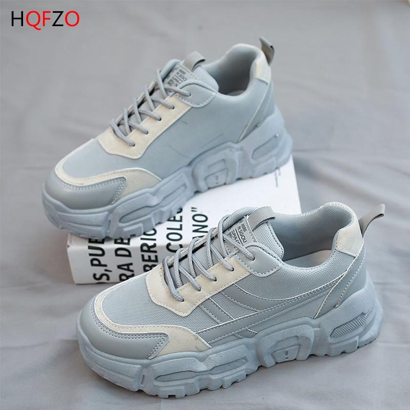 HQFZO الفاخرة النساء أحذية رياضية حذاء مسطح سلة فام تنيس Feminino ماركة أحذية رياضية مريحة 2021 جديد الربيع السيدات الأحذية