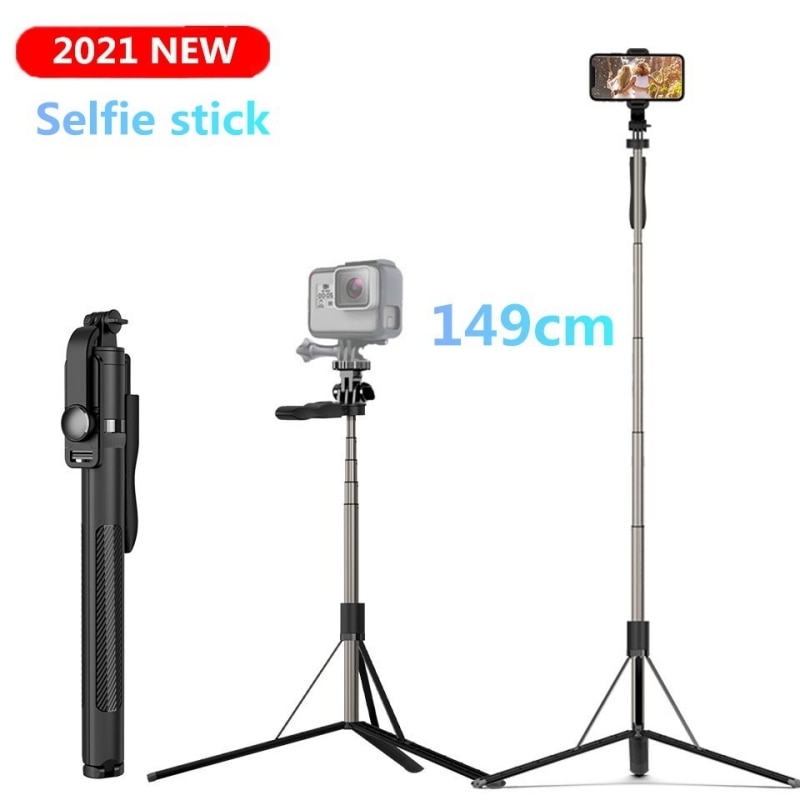 FANGTUOSI 1490mm Big Bluetooth Wireless Selfie Stick Tripod Foldable Monopod For smartphones For Gopro 6 5 Sports Action Cameras