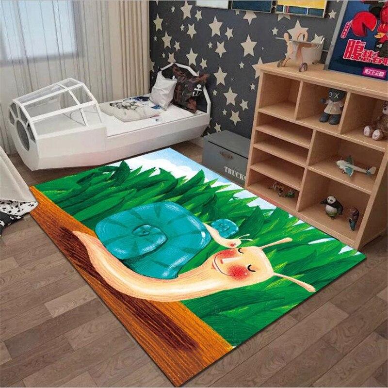 christmas baubles printed skid resistant rug Cartoon Snails Anti-Skid Area Floor Mat 3D Printed Rug Non-slip Mat Dining Room Living Soft Carpet Kids Mat