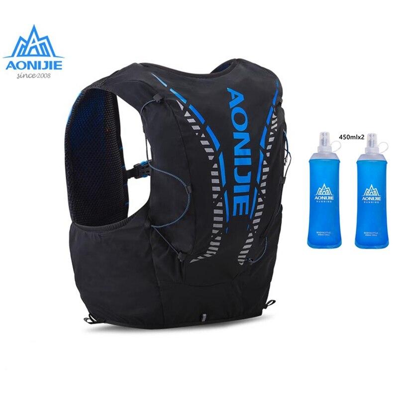 Mochila Aonijie para hidratación, 12L, con botella de agua, bolsa de vejiga, para exteriores, portátil, ultraliviana para Sendero, carrera, senderismo, Maratón